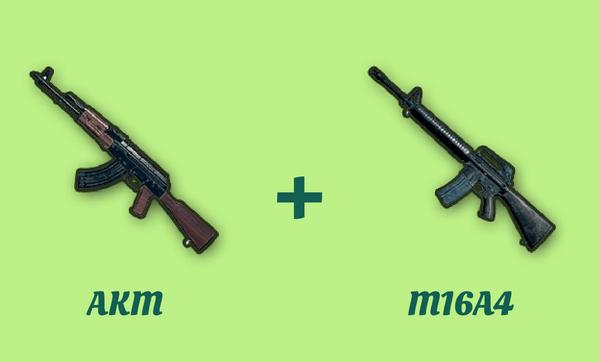 AKM と M16A4 の組み合わせ