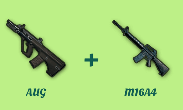 AUG と M16A4 の組み合わせ