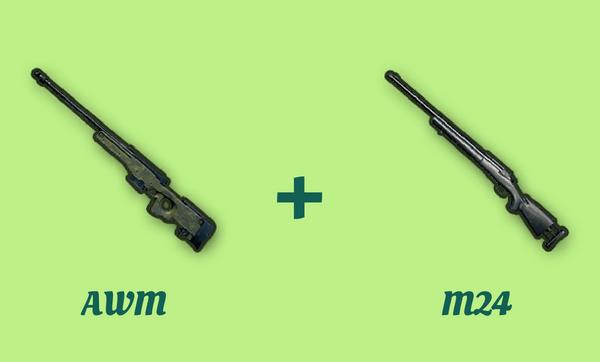 AWM と M24 の組み合わせ