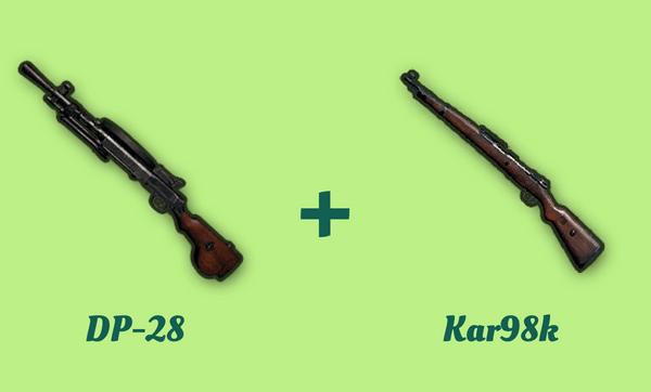 DP-28 と Kar98k の組み合わせ