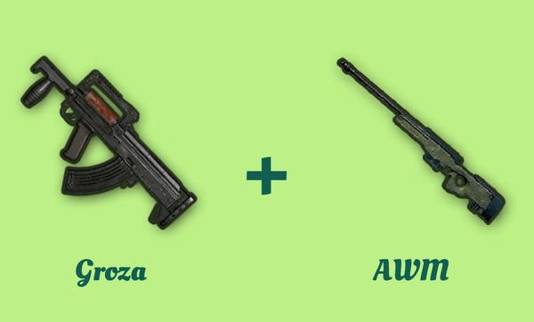 Groza と AWM の組み合わせ