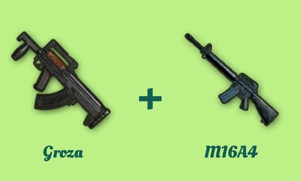 Groza と M16A4 の組み合わせ