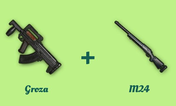 Groza と M24 の組み合わせ