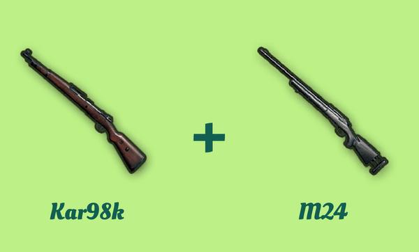 Kar98k と m24 の組み合わせ