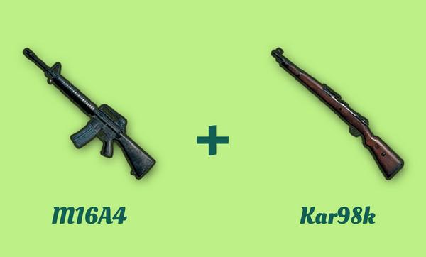 M16A4 と Kar98k の組み合わせ
