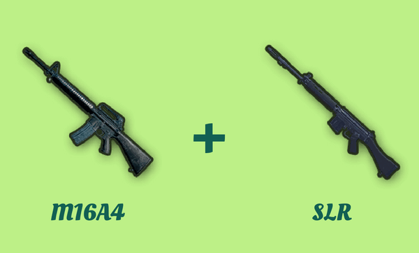 M16A4 と SLR の組み合わせ