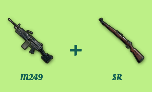 M249 と SR の組み合わせ