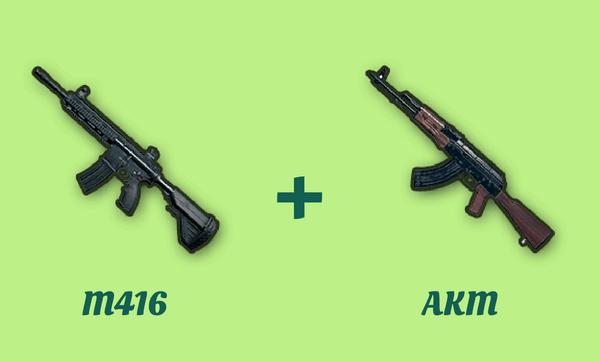 M416 と AKM の組み合わせ