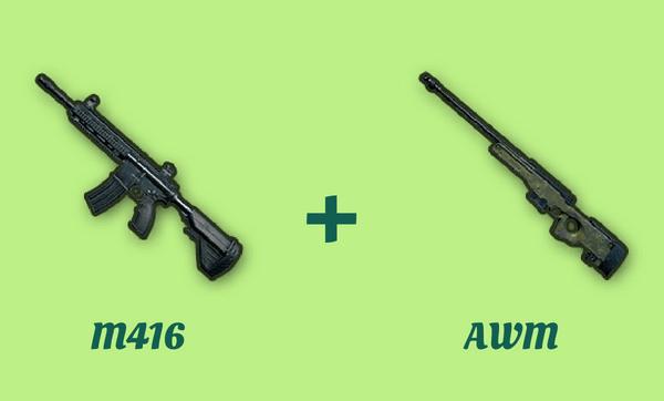 M416 と AWM の組み合わせ