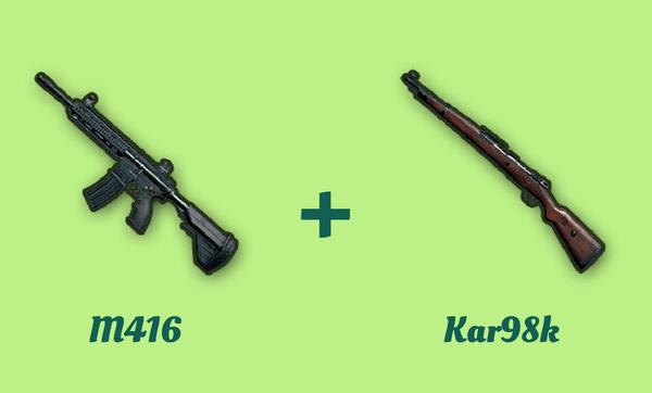 M416 と Kar98k の組み合わせ