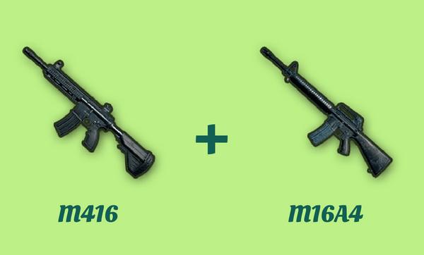 M416 と M16A4 の組み合わせ