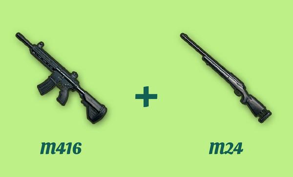 M416 と M24 の組み合わせ