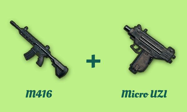 M416 と Micro UZI の組み合わせ