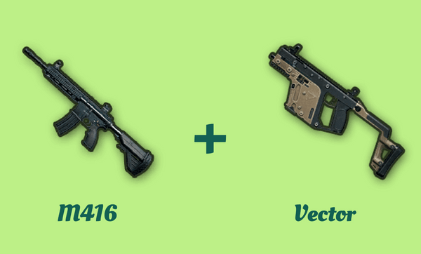 M416 と Vector の組み合わせ