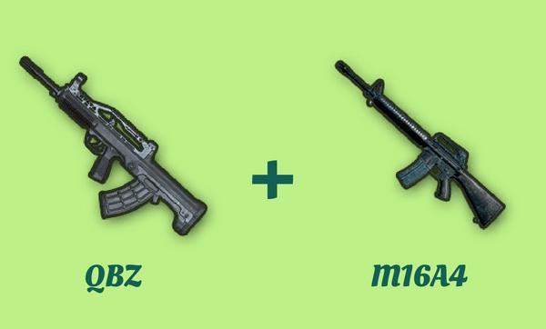 QBZ と M16A4 の組み合わせ