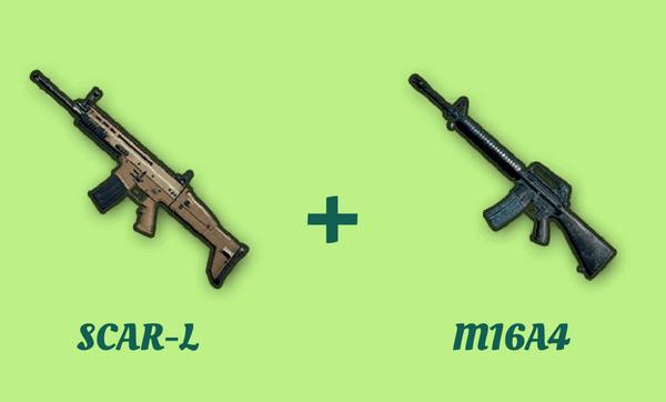 SCAR-L と M16A4 の組み合わせ