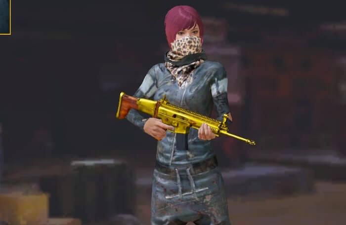 無料で貰えるゴールドの武器スキン1