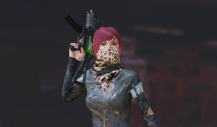 無料で貰える緑の武器スキン2