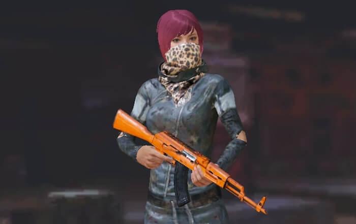 無料で貰えるオレンジの武器スキン