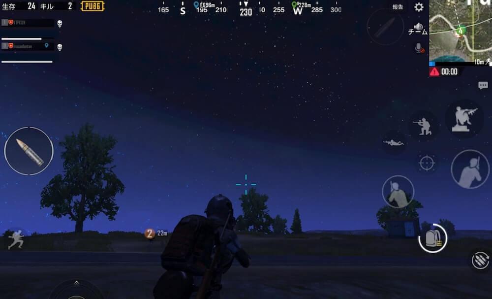夜間モードの画像