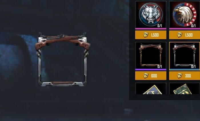 シルバー銃フレームの画像
